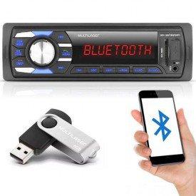 Rádio Automotivo new soul bluetooth multilaser