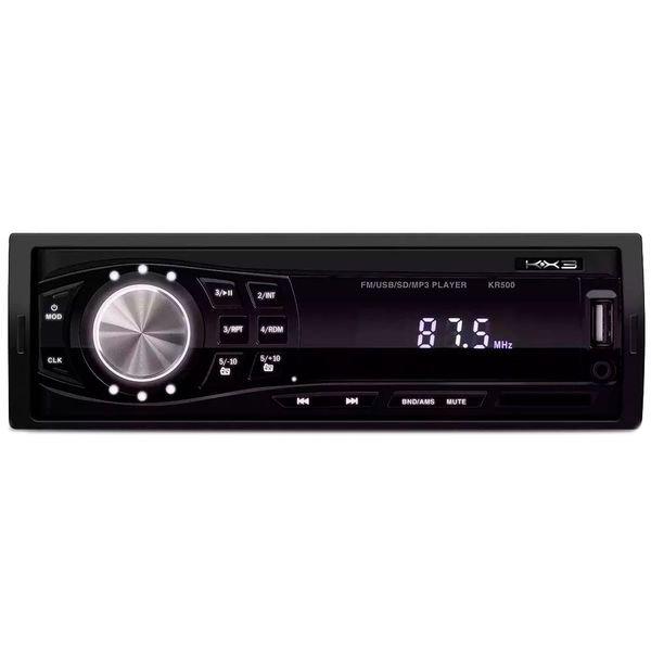 radio automotivo player kx3 kr500 mp3 usb sd 4x12w rms