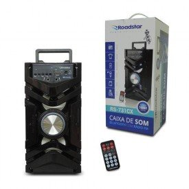 Caixa de Som Portátil Speaker RS731CX Preta Roadstar