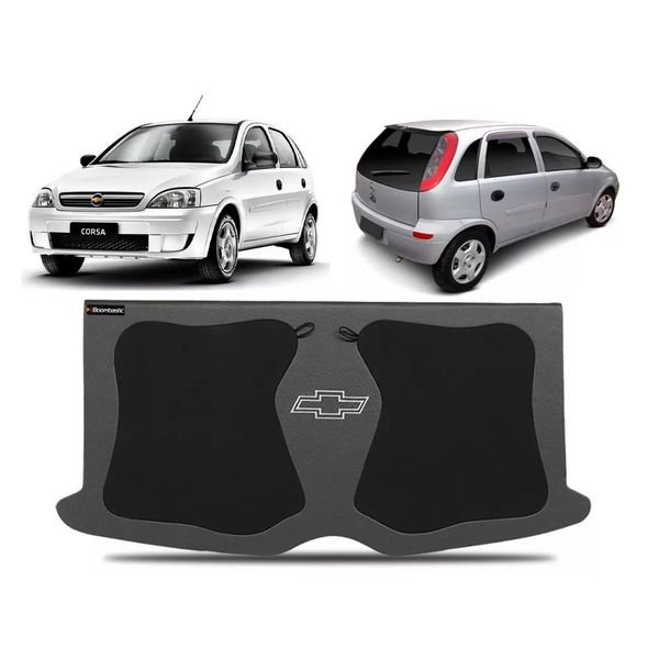 tampo bagagito porta malas corsa hatch 4 portas 2002 a 2012 com furo para alto falantes de 6x9 polegadas boombastic s2 magazine