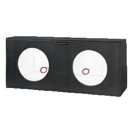 caixa selada super bass para 02 alto falantes de 10 boombastic