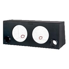 caixa dutada super bass para 02 alto falantes de 10 boombastic