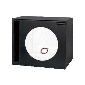 caixa dutada hiper bass para 01 alto falantes de 12 duto regua boombastic preto