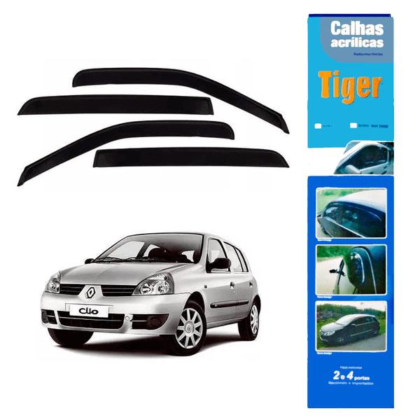 Calha de Chuva Automotiva Clio II Todos 4 Portas RN3685 Tiger