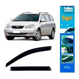Calha de Chuva Automotivo Corolla Fielder 4 Portas 2005 / 2013 TY4224 Tiger