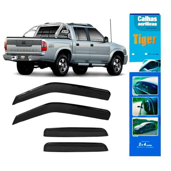 Calha de Chuva Automotiva para S10 4 Portas GM4088 Tiger