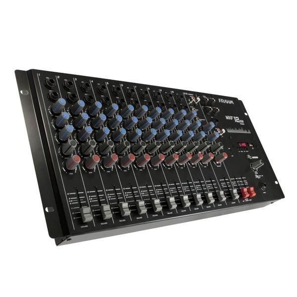 Mesa de Som Mixer MXF12 USB 12 Canais Frahm