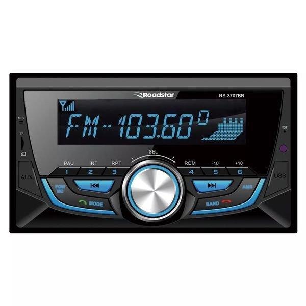 Rádio Automotivo RS3707BR 2 DIN Bluetooth SD USB FM Roadstar
