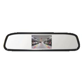Kit Retrovisor Com Tela 4.3 E Câmera Rs501 Mic DVR LCD Universal Roadstar