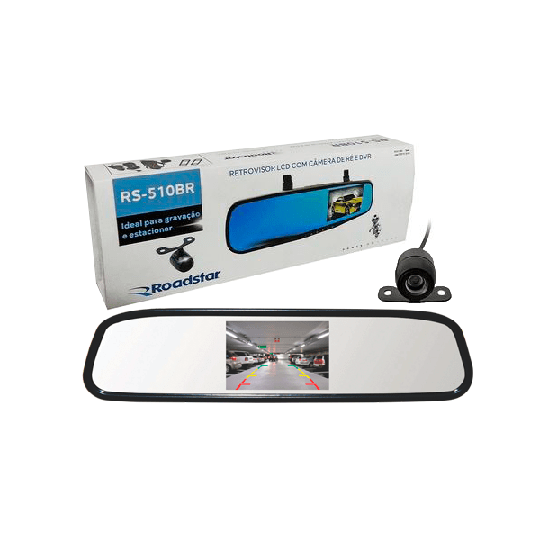 kit espelho retrovisor monitor camera de re Roadstar