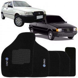 Tapete Automotivo Soft Fiat Uno 1985 até 2007 S3431R 5 Peças Preto Ecotap