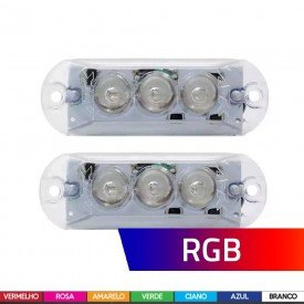 Kit Iluminação Strobo RGB IR Control 7 Cores AJK Sound