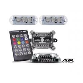 Kit Iluminação Automotivo Strobo Rgb 8 Cores Ritmico AJK Sound