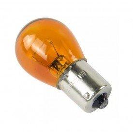 Lâmpada Filamento Ambar 12V 7506 21W BA15S Teslla T1141AB