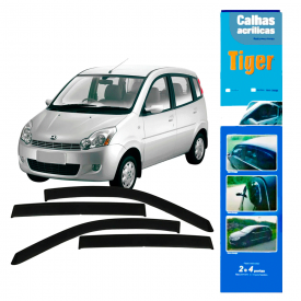 calha de chuva automotiva effa m 100 2007 4 portas ef8557 tiger
