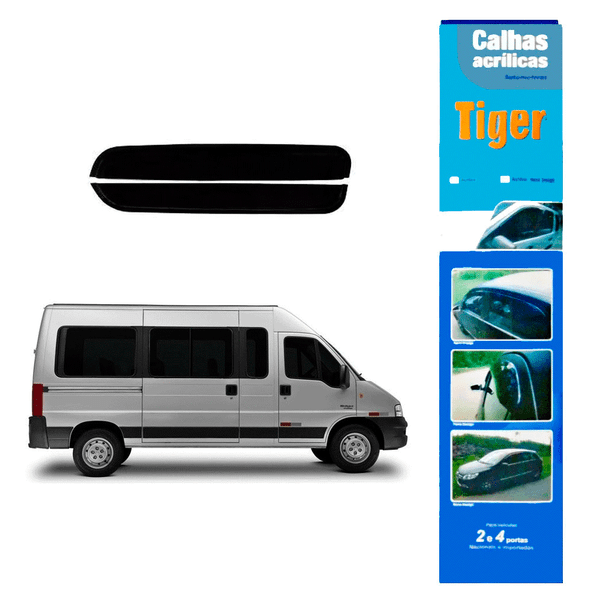 calha de chuva automotiva ducato reta 2 portas ft2169 tiger