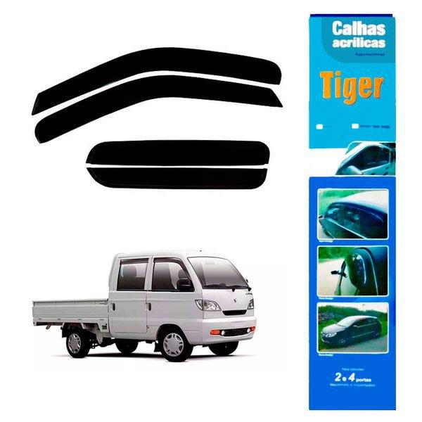 calha de chuva automotiva towner pick up curta 4 portas ef8543 tiger