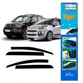 calha de chuva automotiva citroen aircross c3 picasso 4 portas 2012 2018 ct4580 tiger
