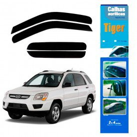 calha de chuva automotiva sportage 2005 2006 2007 2008 2009 2010 4 portas k4279 tiger