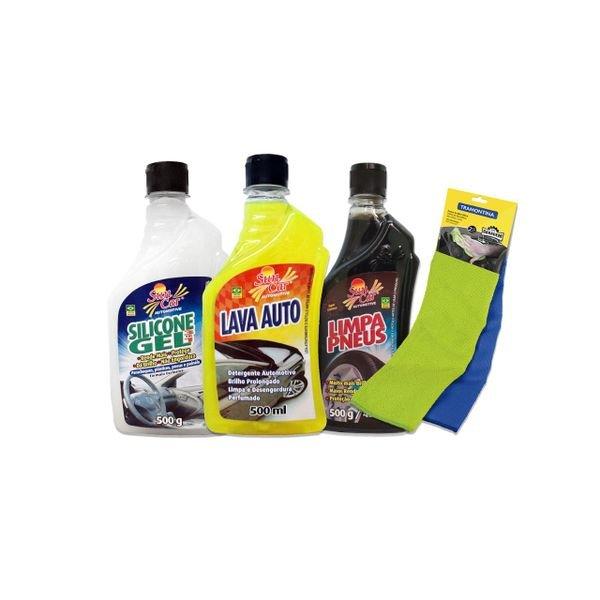 kit de limpeza automotivo basico