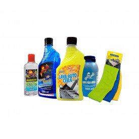 kit limpeza automotiva brilho e transparencia 2