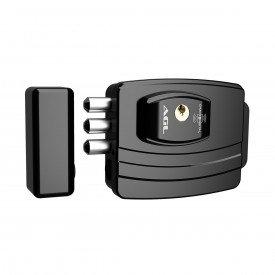 fechadura eletronica 12v ultra card ajustavel preta agl