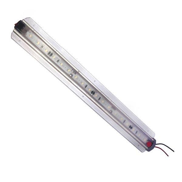 regua barra led transparente led branco 24v 12v sinbrax com tecla