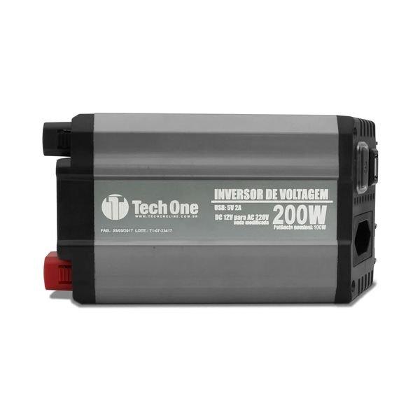 inversor de voltagem com usb 200w 12v 110v techone