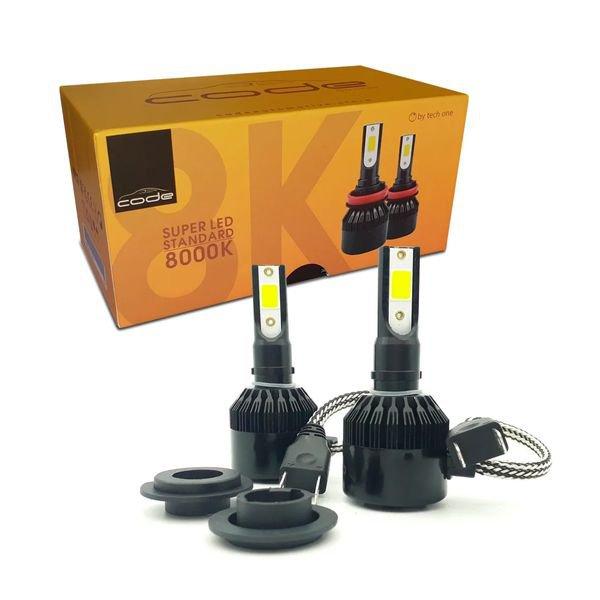 kit lampada super led standard 8000k h7 code bivolt techone 2