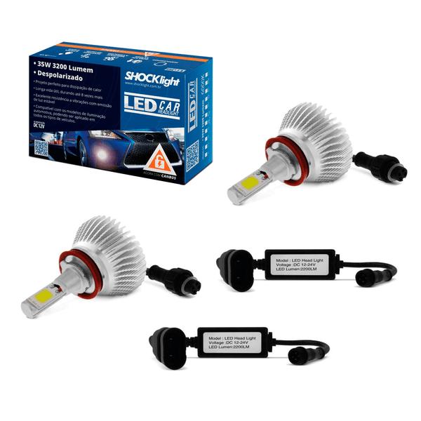 kit lampada led h8 6000k 12v 24v 32w shocklight sll 10008