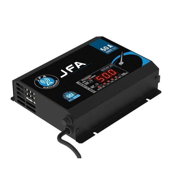 fonte automotiva digital e carregador 50 amp jfa 4