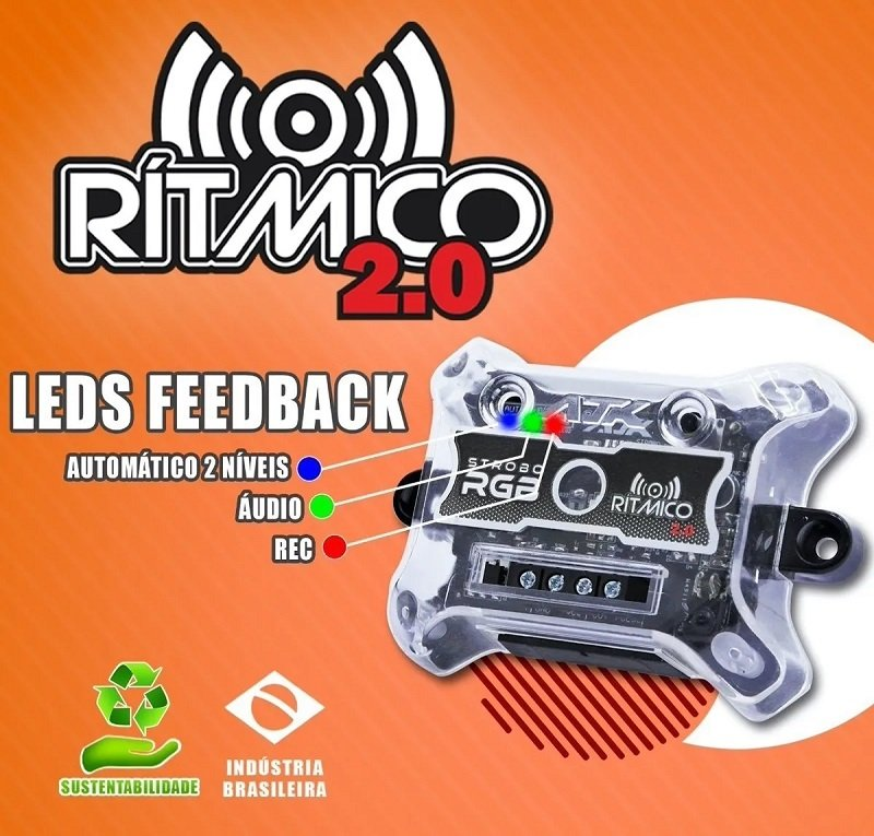 kit strobo rgb 2 0 ritmico com controle remoto ajk sound