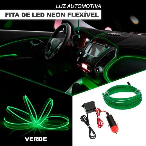 fita neon flexivel automotiva para interiores shocklight escolha a cor