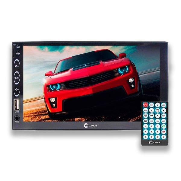 radio multimidia mp5 7 pol touch screen bluetooth espelhamento cinoy