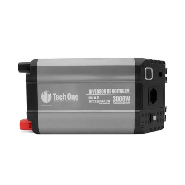 inversor de voltagem com usb 3000w 12v 110v techone