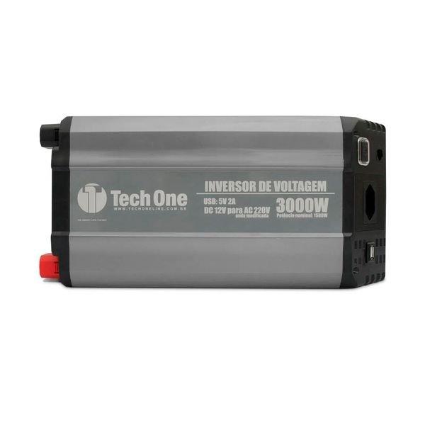 inversor de voltagem com usb 3000w 12v 220v techone