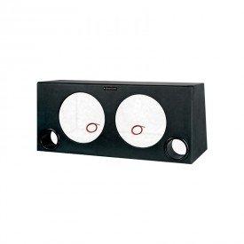 caixa dutada super bass para 02 alto falantes de 12 boombastic preto