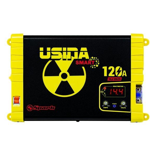 fonte automotiva smart 12v 120a com voltimetro amp usina suva12120bv