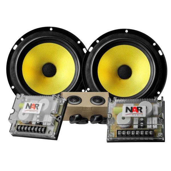 alto falante 6 polegadas kit duas vias 60 60w rms 600 cs 3 nar audio par 6
