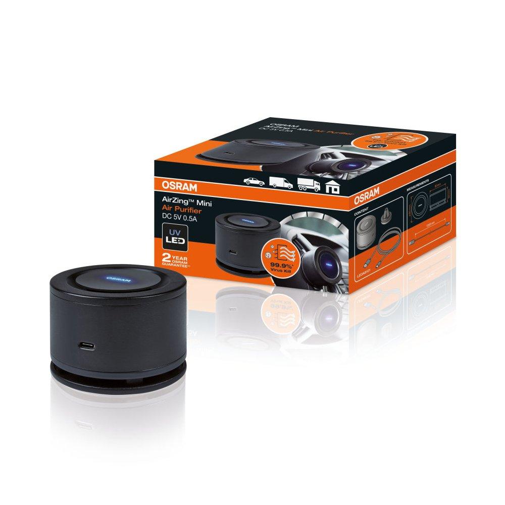 purificador de ar automotivo led airzing mini osram 5